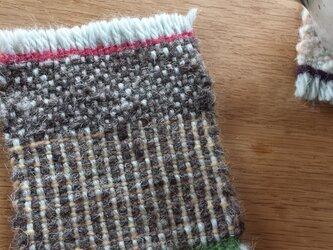 【手織り】ウールのコースター#02の画像