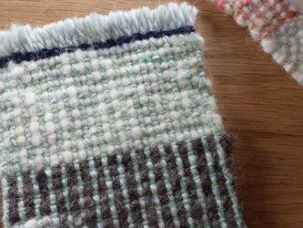 【手織り】ウールのコースター#04の画像