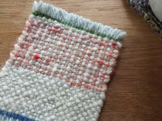【手織り】ウールのコースター#05の画像