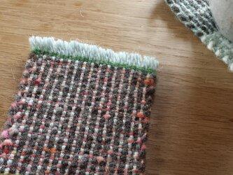 【手織り】ウールのコースター#06の画像