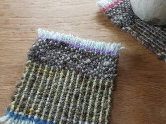 【手織り】ウールのコースター#07の画像