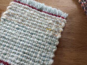 【手織り】ウールのコースター#08の画像