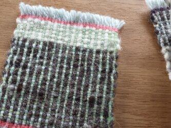 【手織り】ウールのコースター#09の画像