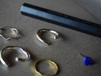 スプリットリング4 ツルツル 極太 sv925の画像