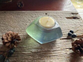 ガラスのキャンドルホルダーの画像