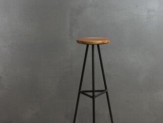 [無垢材とアイアンのスリムテーブル]  モダン ミニマル サイドテーブル 消毒液スタンド 花台 おしゃれの画像