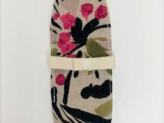 布ナプキン/おりもの用ライナー/抽象花柄(濃ピンク)の画像