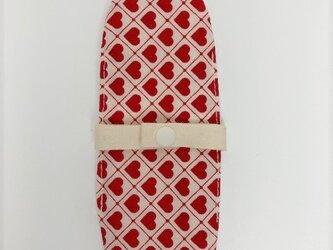 布ナプキン/おりもの用ライナー/赤いハートの画像