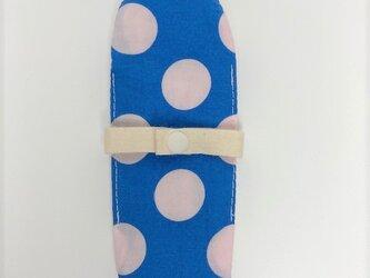 布ナプキン/おりもの用ライナー/水色×白ドットの画像
