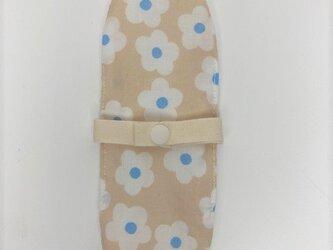 布ナプキン/おりもの用ライナー/ベージュ地に白い花の画像