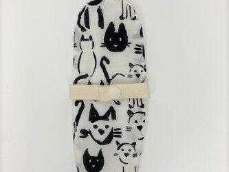 布ナプキン/おりもの用ライナー/モノトーン猫の画像