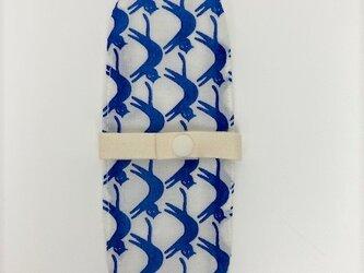 布ナプキン/おりもの用ライナー/青い猫の画像