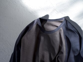 size1/organic cotton slub raglan Tの画像