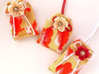(金紅)元巫女の花のお守り袋の画像
