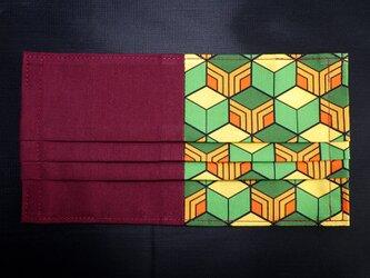 MC-G-000 不織布マスク カバー プリーツ タイプ 伝統 和柄 和風 可愛い 亀甲柄の画像