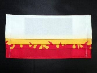 MC-R-000 不織布マスク カバー プリーツ タイプ 伝統 和柄 和風 可愛い ファイヤー パターンの画像