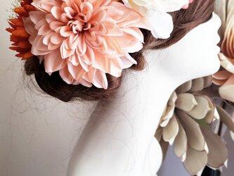 専用 オーダー商品 大きなダリアと重ねキクの髪飾り7点Setの画像