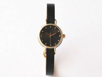 iroha 黒 真鍮シンプルケース(受注生産)| ハンドメイド腕時計の画像