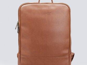 リュック メンズ レザー 大容量 バッグ 鞄 レディース ノートパソコン収納15インチ 防水の画像