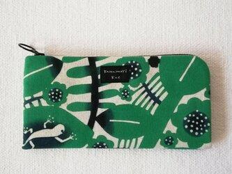 型染め 長財布「南国の森」の画像