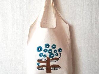 型染めマルシェバッグ「花」の画像