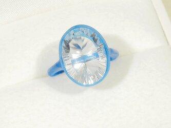 Hi様、ご確認用_6.60ct水晶とSV925の指輪(ブラジル産、天然石、クォーツ、4月の誕生石、ふくりん留め)の画像