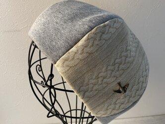 TOPI編み物柄のグレースウェットのベレー(58〜60)の画像