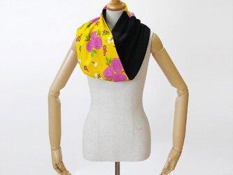 カンガのロングスヌード|ネックウォーマー / アフリカ布の画像