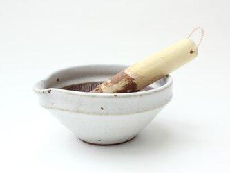 山只華陶苑・JUJU4寸(藁白)+関根さんのすりこぎセットの画像