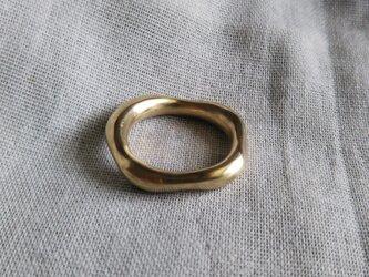 真鍮 ドロップニュアンスリング 受注制作の画像