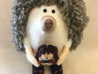 動物シリーズ「ハリネズミさんとハリネズミのお人形」の画像