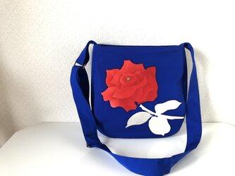 帯バッグ〜真っ赤な薔薇〜の画像