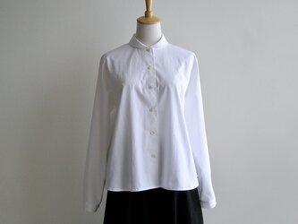 基本の白いシャツ(播州織・ピンポイントオックス生地)の画像