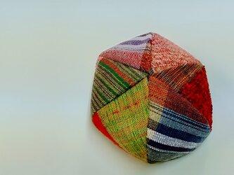 手織りの6枚はぎのベレー帽の画像