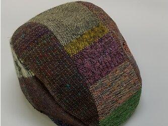 手織りのパッチワークHATの画像