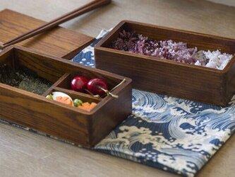 受注生産 職人手作りランチボックス 弁当箱 キッチン小物 雑貨 木目 天然木 木製 無垢材 デイリー エコ LR2018の画像