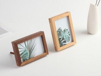 受注生産 職人手作り フォトフレーム 写真立て 木製雑貨 無垢材 天然木 木目 ウォールナット 木工 エコ LR2018の画像