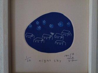 銅版画 『night sky』の画像