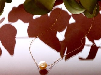Sot.to  K18YG  7mmアコヤ真珠の一粒ネックレスの画像