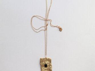 文字のよめない石盤ネックレスの画像