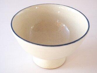 カフェオレボウル・ベージュ(口縁青ライン)の画像