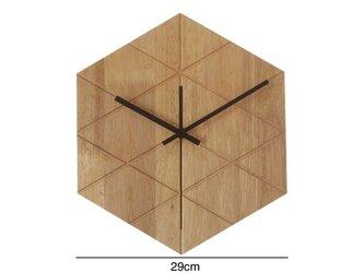 受注生産 職人手作り 壁掛け時計 時計 寝室 静音 シンプル インテリア雑貨 木製 天然木 無垢材エコ LR2018の画像