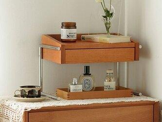 受注生産 職人手作り ドレッサー 化粧机 寝室 デスク収納 木目 天然木 木製 家具 無垢材 木工 エコ LR2018の画像