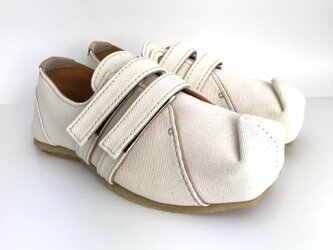 SQUARE velcro-sneakers #倉敷帆布 #受注製作の画像