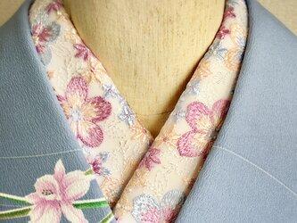 洗える刺繍半衿 パステルフラワーの画像
