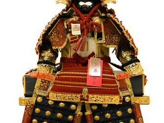 新商品 五月人形 鎧飾り 竹雀(たけすずめ)5号大鎧櫃飾り 春日大社祈蔵模写の画像