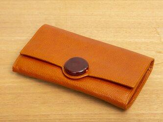 Raggio Veneziano/ラッジョ・ヴェネツィアーノ 長財布 オレンジ×オレンジのガラスの画像