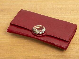 Raggio Veneziano/ラッジョ・ヴェネツィアーノ 長財布 赤×赤のガラスの画像