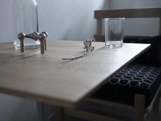 Square table Oak/スクエアテーブル/60cm×60cm/オーク無垢材/高さ指定可・脚カラー選択可/テレワークの画像