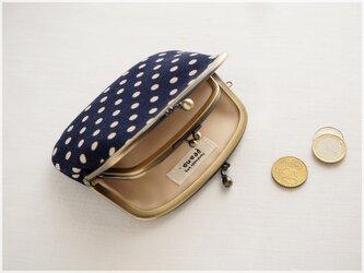 ■水玉コーデュロイの親子がま口財布【ミニマムサイズ】 ■ lucas (cdot-nc)の画像